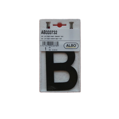 Albo Aluminium House Number - Model L32 -   Letter B