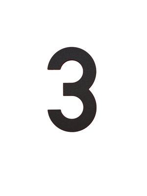 Albo Numéro de maison en aluminium - Modèle C32 - numéro 3