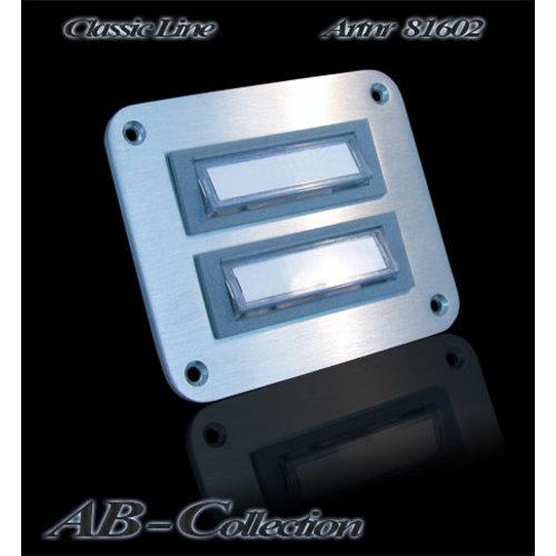Mailbox design Doorbell Rectangle -  Illuminated - Type 602 - 90 x 75 mm