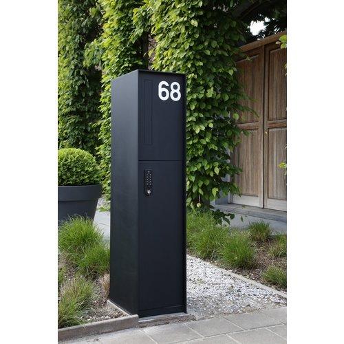 eSafe Design Parcel Box - Fenix eSafe Front - Black RAL 9005