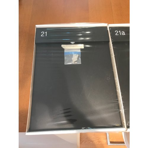 Albo Aluminium Letterbox ALBO TOPA 530  - With engraving of house number