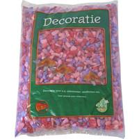 Glitter Gravel Mix Roze - 1kg Zak