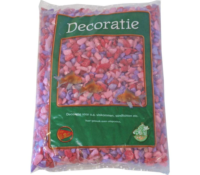 Glitter Gravel Mix Roze - 1kg Bag