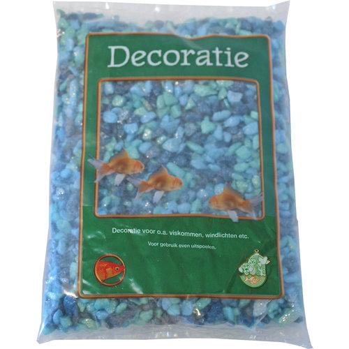 Glitter Gravel Mix Blauw