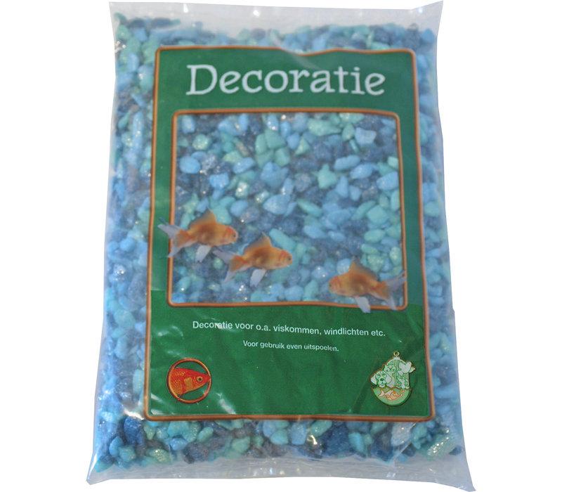 Glitter Gravel Mix Blue - 1kg Bag