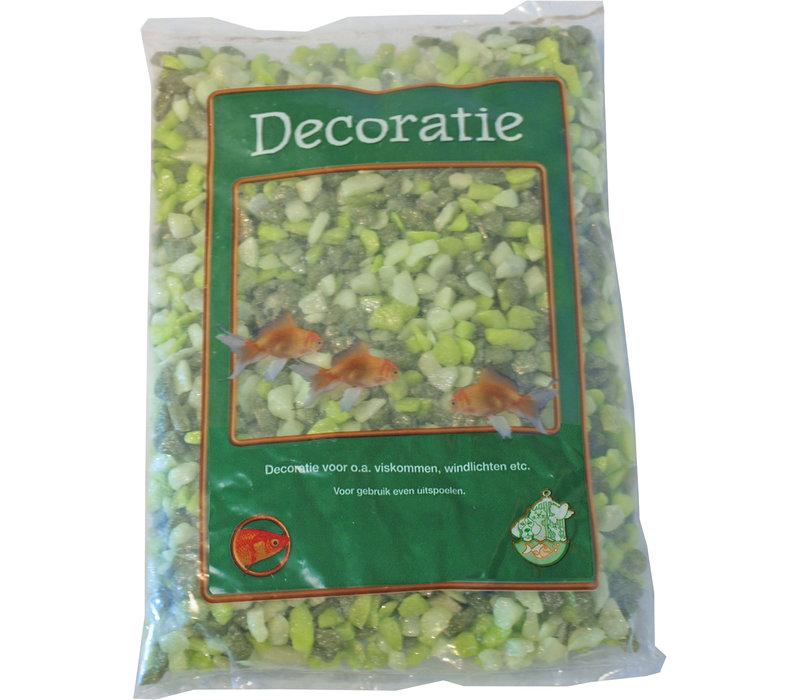 Glitter Gravel Mix Groen - 1kg Zak