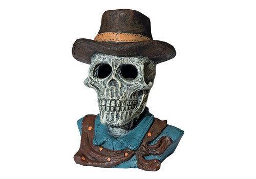 Deco Led Skull Cowboy