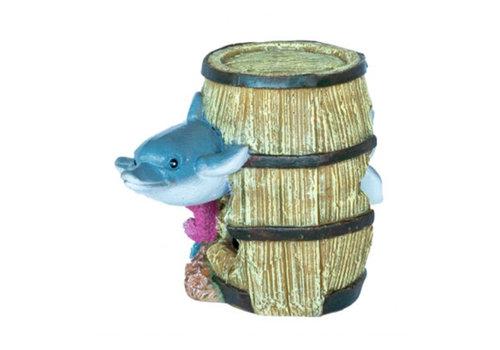 Deco Barrel Dolphin