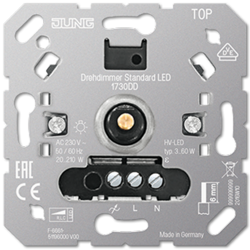 JUNG standaard LED-dimmer 3-60 Watt (1730 DD)