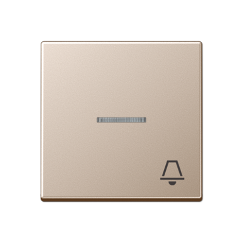 JUNG schakelwip bel symbool controlevenster A-range champagne (A 590 KO5K CH)