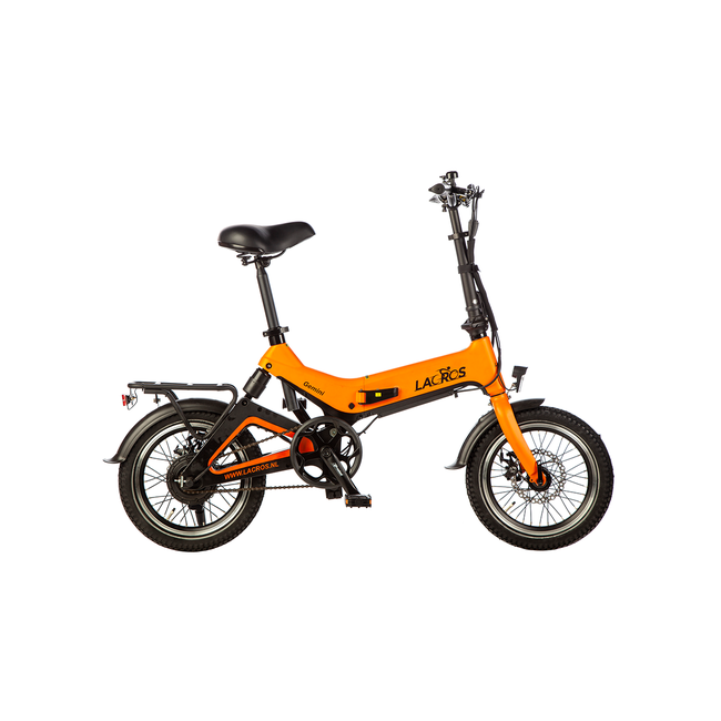 Electric folding bike Lacros Gemini G200 - Matt Orange