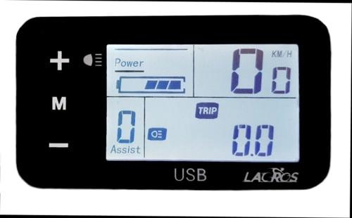elektrische vouwfiets c200 matgrijs display