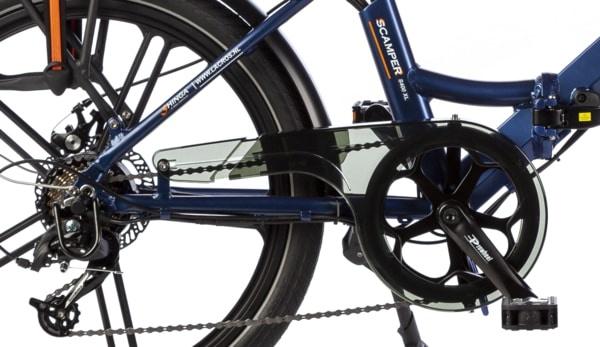 elektrische vouwfiets S400 XL matblauw motor