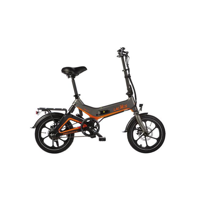 Electric folding bike Lacros Gemini G400 - Matt Gray
