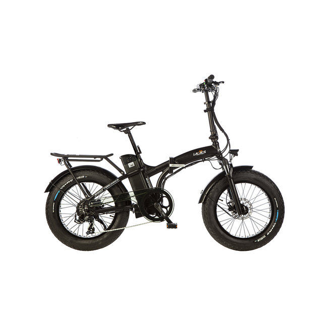 Vélo pliant électrique Lacros Mustang M250 Fat Bike - Noir Mat