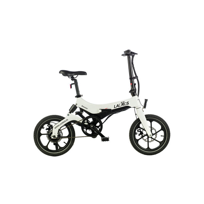 Vélo pliant électrique Lacros Gemini G400 Modèle d'action - Blanc mat