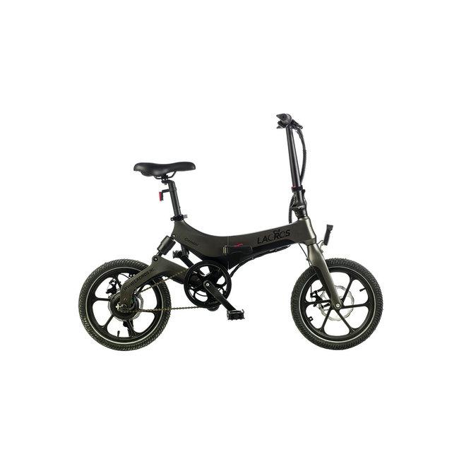 Electric folding bike Lacros Gemini G400 action model - Matt Gray