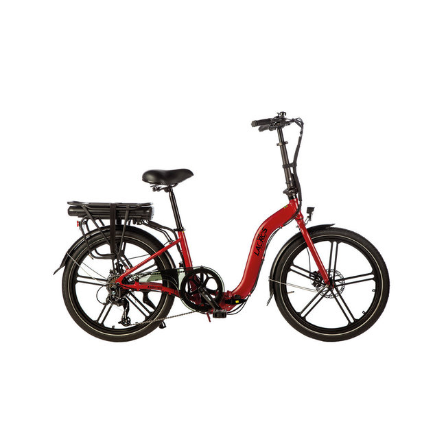 Electric folding bike Lacros Ambling A400XL - Matt Red