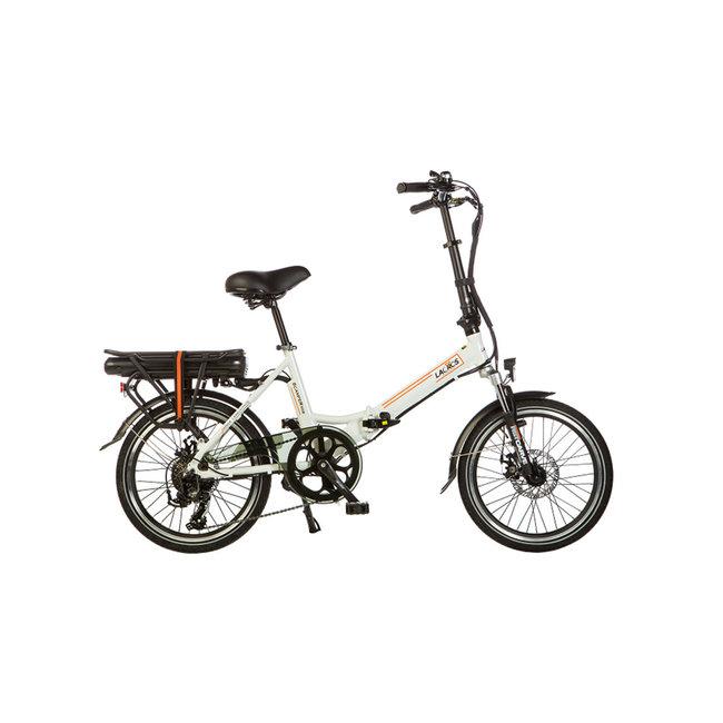 Elektrisches Faltrad Lacros Scamper S200 - Matt Weiß