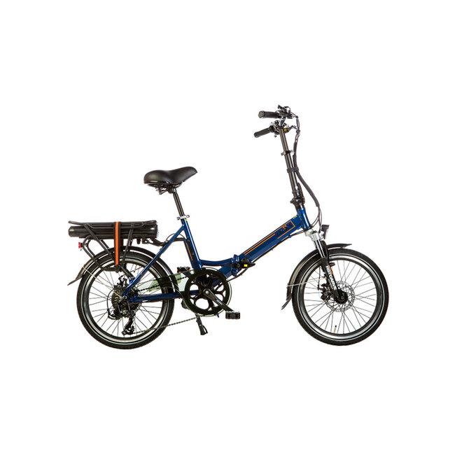 Vélo pliant électrique Lacros Scamper S200 - Bleu Mat