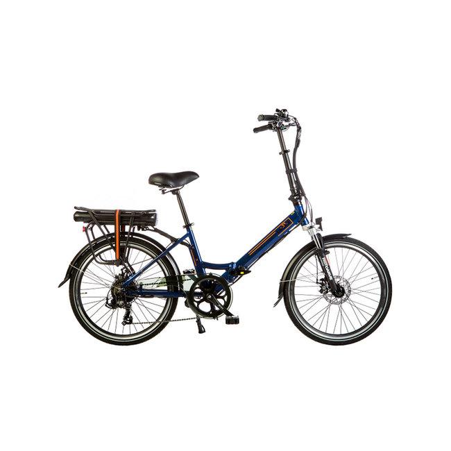 Electric folding bike Lacros Scamper S200XL - Matt Blue