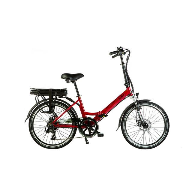 Elektrisches Faltrad Lacros Scamper S200XL - Matt Rot