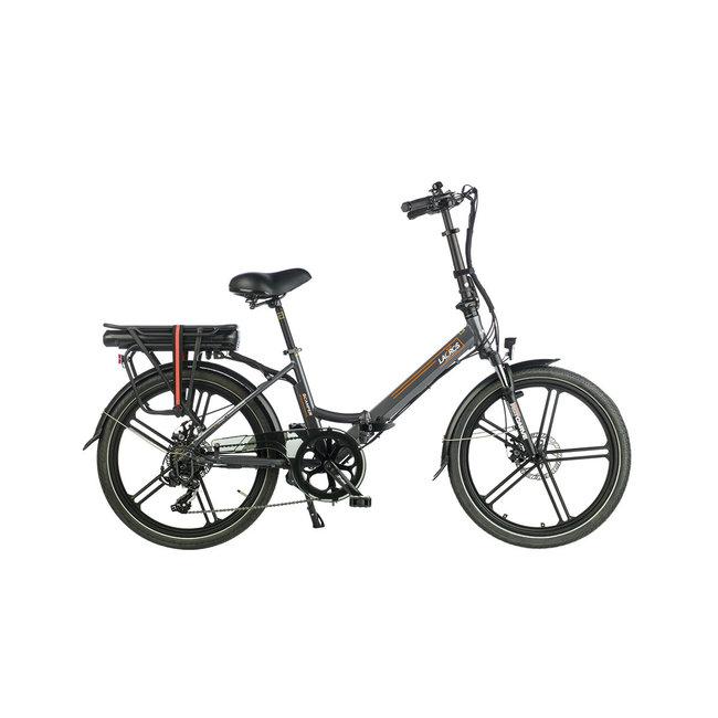 Electric folding bike Lacros Scamper S400XL - Matt Gray