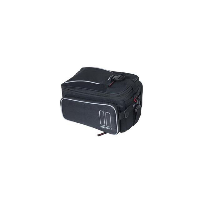 Basil Sport top bag 7-15 litres noir + adaptateur Mik