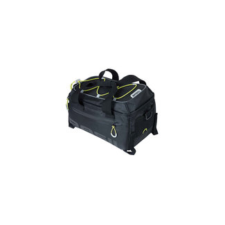 Basil Miles waterproof toptas 7 liter zwart + adapterplaat MIK