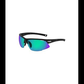 R2 Racer Sport sonnenbrille schwarz/grün
