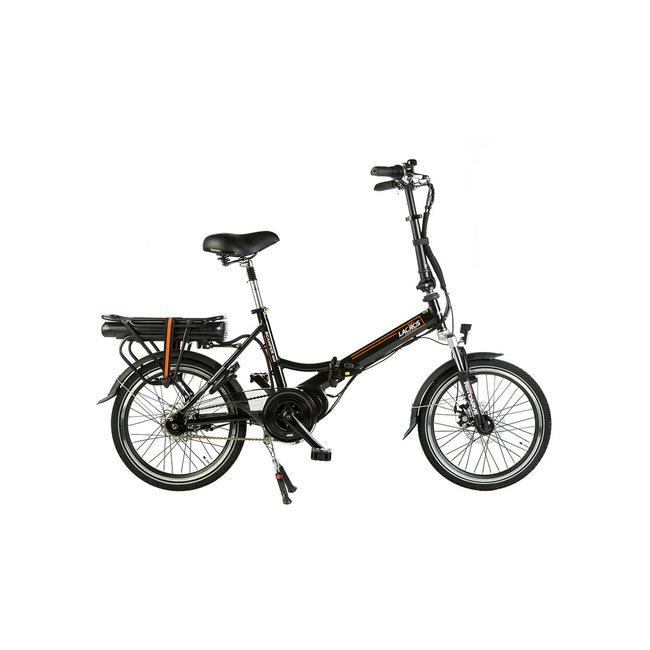 Elektrisches Faltrad Lacros Scamper S600 – Matt Schwarz Mittelmotor