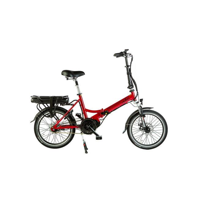 Electric folding bike Lacros Scamper S600 - Matt Red Midmotor