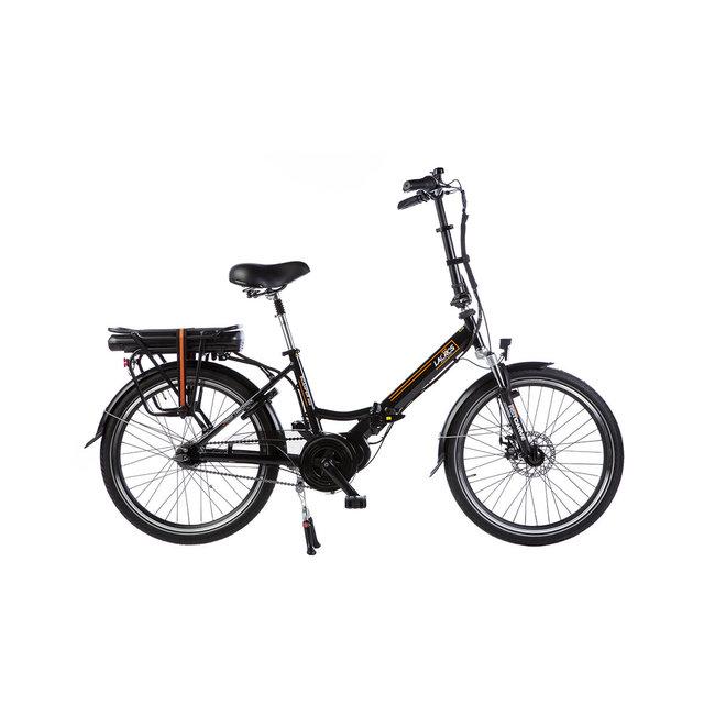 Electric folding bike Lacros Scamper S600XL - Matt Black Midmotor