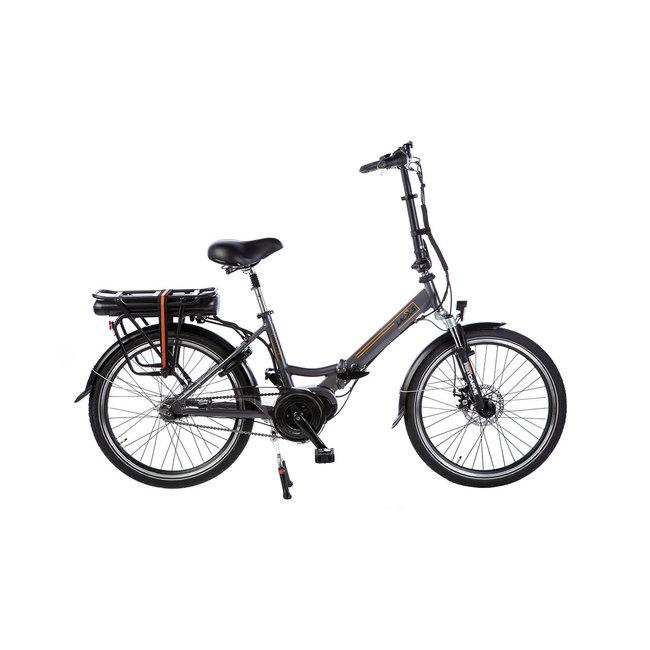 Electric folding bike Lacros Scamper S600XL -  Matt Grey Midmotor