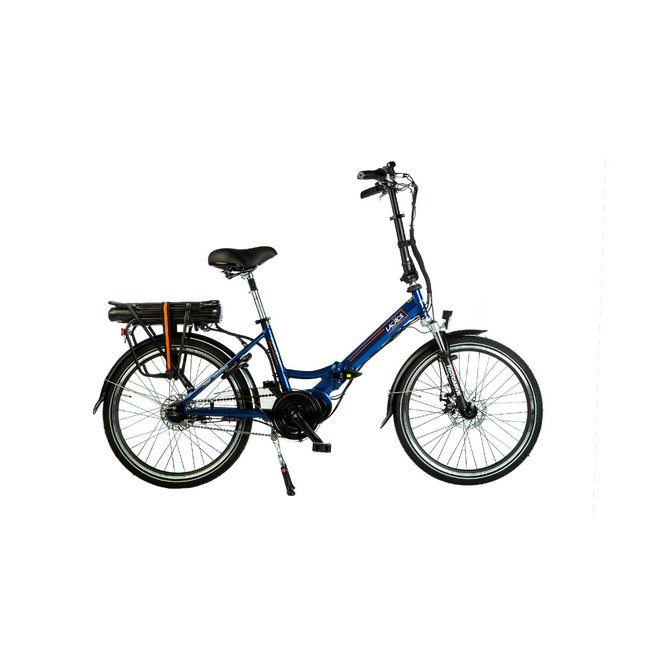 Electric folding bike Lacros Scamper S600XL - Matt Blue midmotor