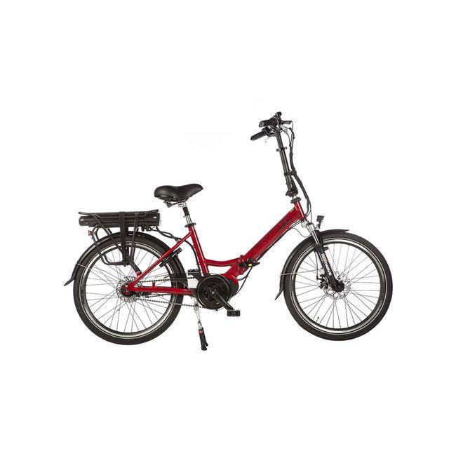Electric folding bike Lacros Scamper S600XL - Matt Red midmotor
