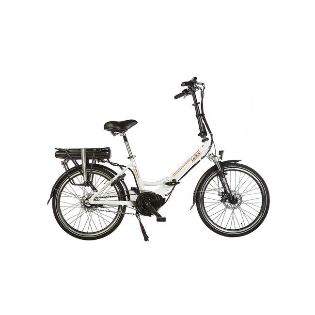 Elektrisches Faltrad Lacros Scamper S600XL - Matt Weiß mittelmotor