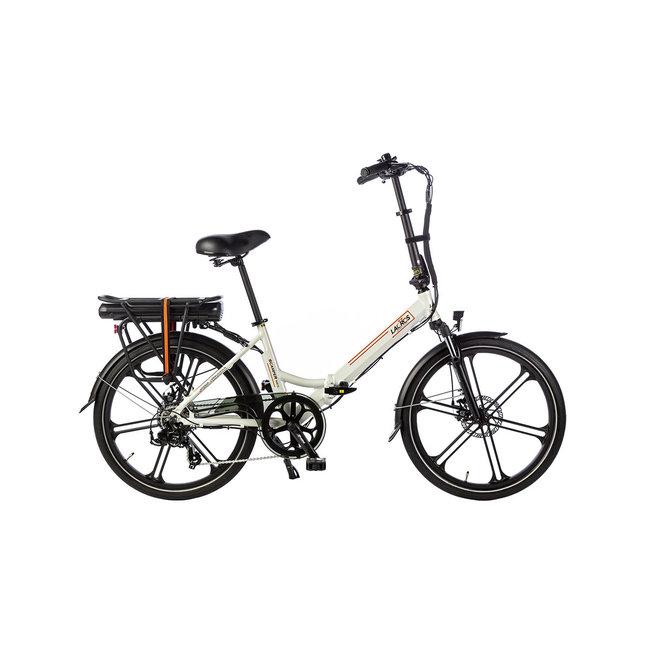 Elektrisches Faltrad Lacros Scamper S400XL - Matt Weiß