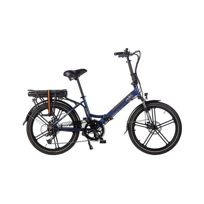 Vélo pliant électrique Lacros Scamper S400XL - Bleu Mat