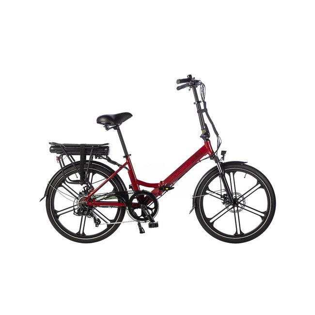 Elektrisches Faltrad Lacros Scamper S400XL - Matt Rot