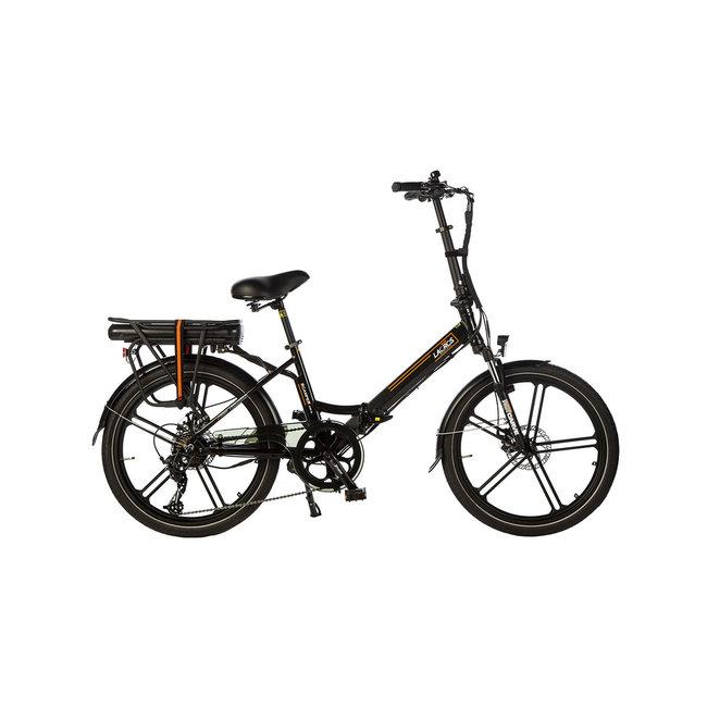 Elektrisches Faltrad Lacros Scamper S400XL - Matt Schwarz