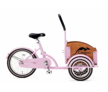 Cangoo Mini Bakfiets roze