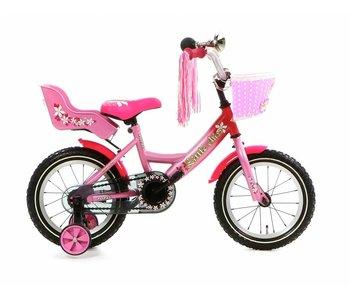 Popal Little Miss 14 inch Meisjesfiets Roze