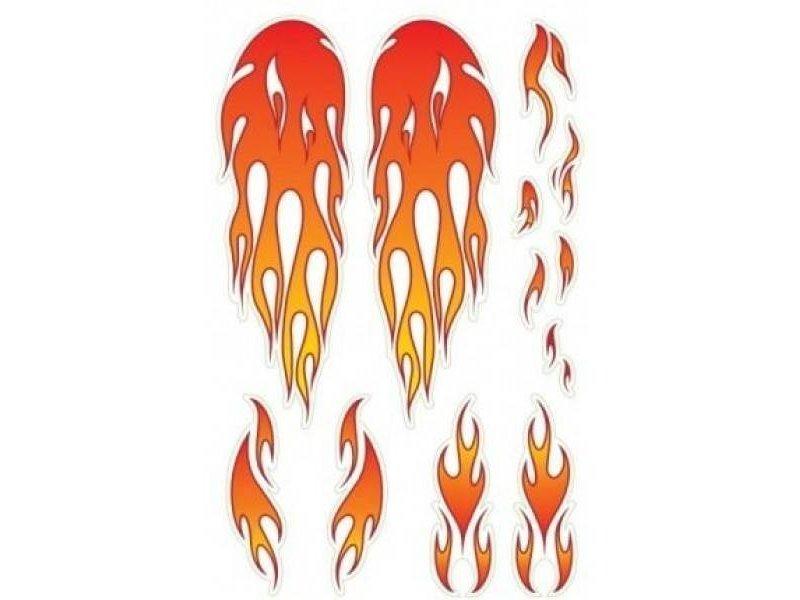 Wishbone Bike stickervel vlammen