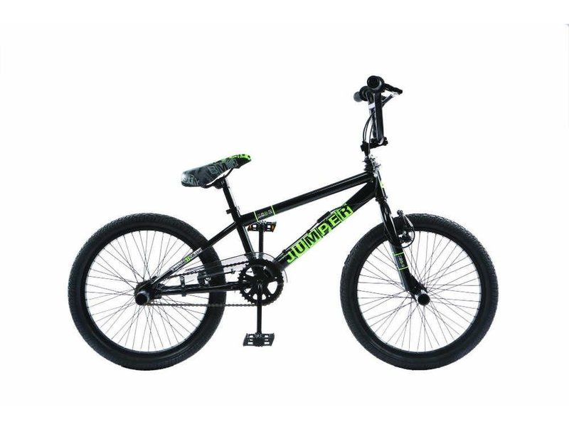 BMX Crossfiets Freestyle Jumper 20 inch n kleur: Zwart