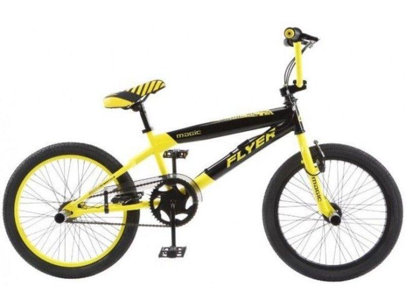 BMX FreestylenCrossfiets Flyer 20 inch Zwart - Geel