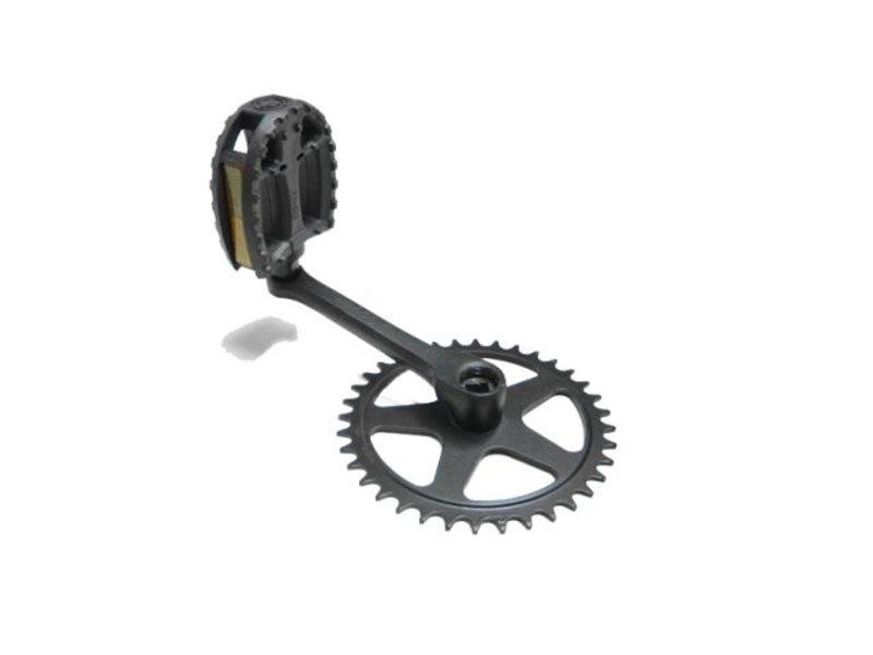 Crank + pedaal 140 R 36T