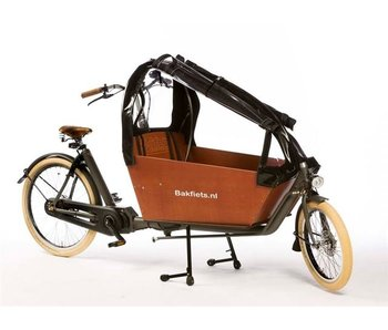 Bakfiets.nl Tent CargoBike Long All Open, extra hoog, 90% open