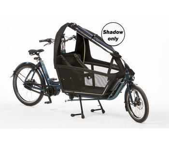 Bakfiets.nl Regentent Shadow long all-open: matzwart