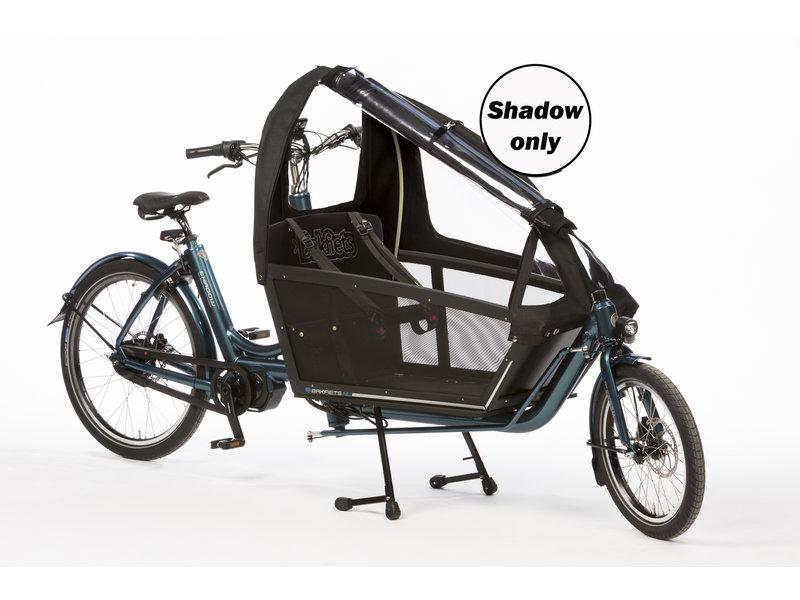 Bakfiets.nl Regentent Shadow long all-open: matzwart